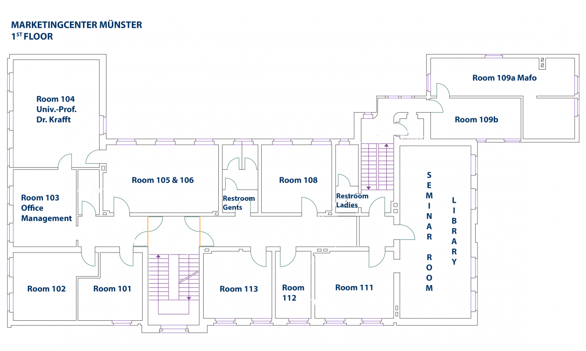 Floor Plan Marketing Center Mnster Schematic First Chair Of Management