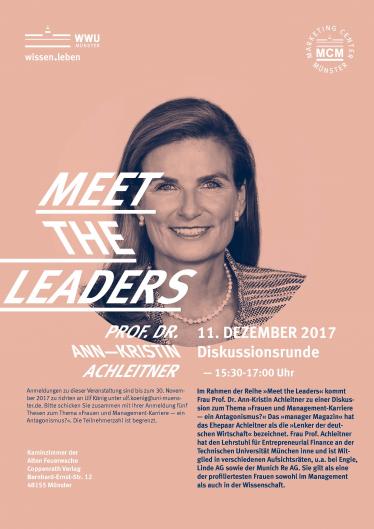 Event | Meet the Leaders | Prof. Dr. Ann-Kristin Achleitner
