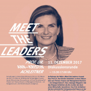 Event | Meet the Leaders | Prof. Dr. Ann-Kristin Achleitner